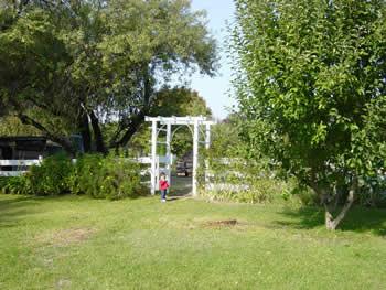 entrance to grandma's garden