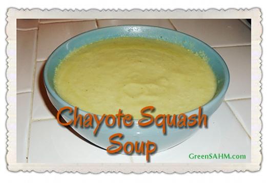 Chayote squash soup