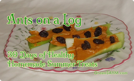 Ants on a Log - Day 15 of 30 Days of Healthy Homemade Summer Treats