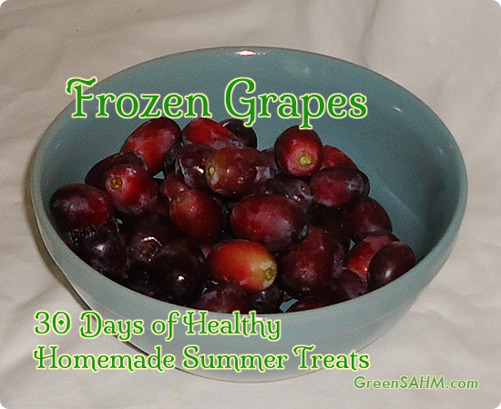 Frozen Grapes - Day 14 of 30 Days of Healthy Homemade Summer Treats