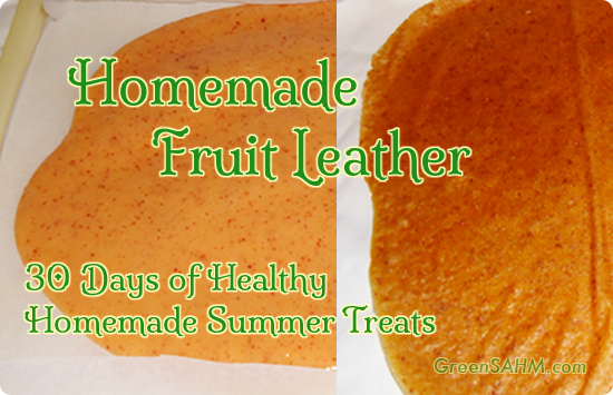 Homemade Fruit Leather - Day 26 of 30 Days of Healthy Homemade Summer Treats
