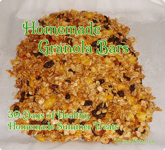 Homemade Chewy Granola Bars - Day 23 of 30 Days of Healthy Homemade Summer Treats
