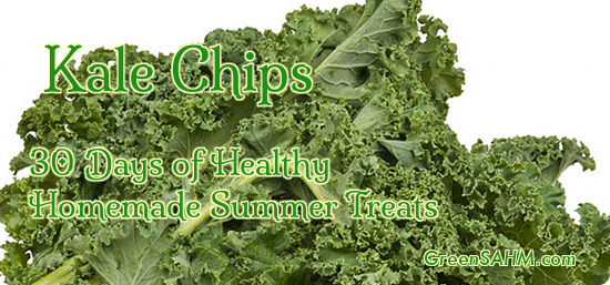 Kale Chips - Day 29 of 30 Days of Healthy Homemade Summer Treats