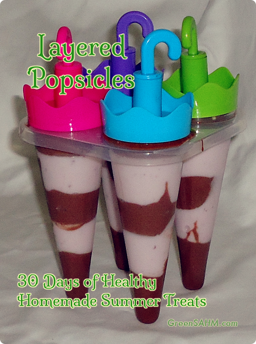 Layered Popsicles - Day 17 of 30 Days of Healthy Homemade Summer Treats