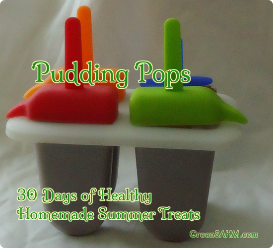 Homemade Pudding Pops - Day 7 of 30 Days of Healthy Homemade Summer Treats