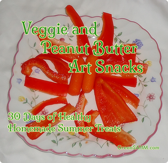 Veggie and Peanut Butter Art Snacks - Day 24 of 30 Days of Healthy Homemade Summer Treats