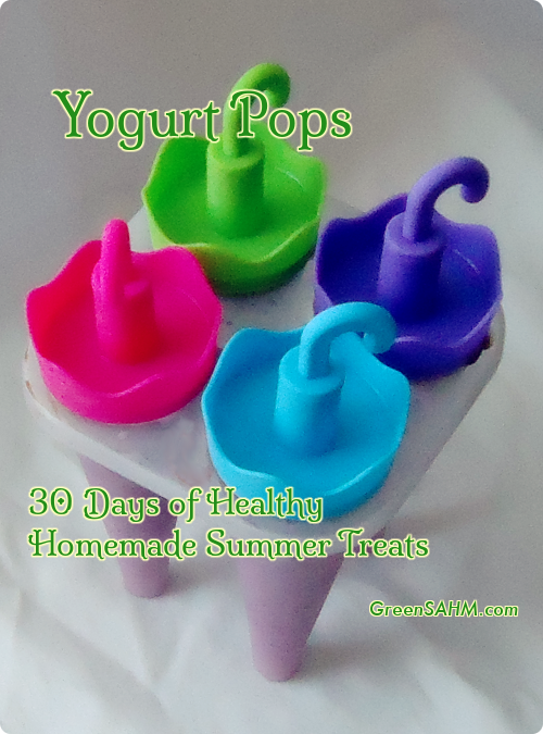 Yogurt Pops - Day 16 of 30 Days of Healthy Homemade Summer Treats