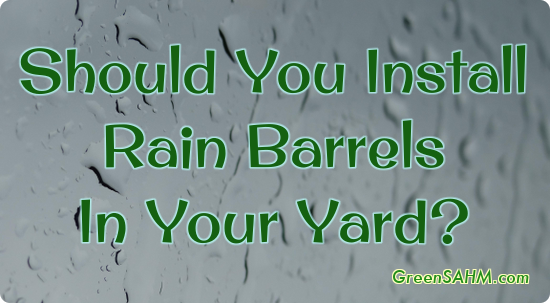 Should You Install Rain Barrels In Your Yard?