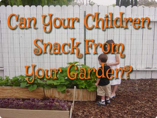 Can Your Children Snack From Your Garden?