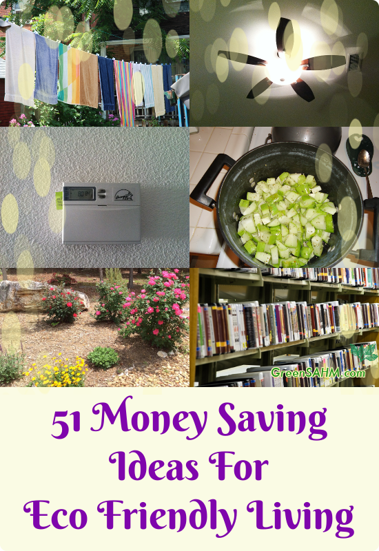 51 Money Saving Ideas For Eco Friendly Living