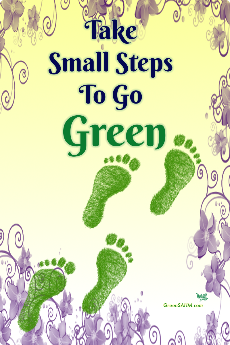 Take Small Steps To Go Green
